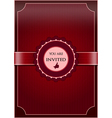Red abstract invitation vector image vector image