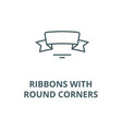 ribbons with round corners line icon vector image vector image