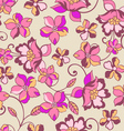 romantic floral seamless background vector image vector image