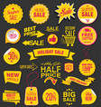 sale stickers and tags colorful collection 6 vector image vector image