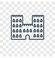 sand castle concept linear icon isolated on vector image