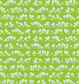Seamless pattern with cartoon trees vector image vector image