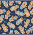 seamless pattern with mittens vector image vector image