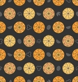 seamless pattern with set different pizza vector image vector image