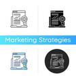 search marketing icon vector image