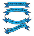 set of birthday ribbon vector image