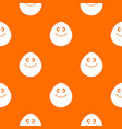 smiling lime pattern seamless vector image vector image