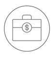 Suitcase with dollar symbol line icon vector image vector image