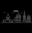 suzdal silhouette skyline russia - suzdal vector image vector image