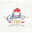 The Best Steak Store Vintage Typography Label vector image vector image