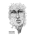 The image of nature Face in the branches Spring vector image vector image