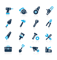 Tools Icons Azure vector image vector image