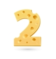 Two cheese number vector image