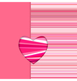 valentine striped card vertical vector image vector image