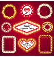 Valentines Lights Decorations Set3 vector image vector image