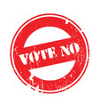 vote no rubber stamp vector image vector image