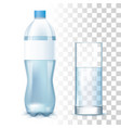water bottle glass vector image vector image