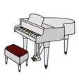 White grand piano vector image vector image