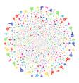 wide brush fireworks globula vector image vector image