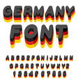 Germany font German flag on letters National vector image