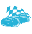 silhouette sports car vector image