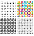 100 woman shopping icons set variant vector image