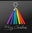 abstract christmas tree in rainbow colors vector image vector image