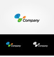 abstract dynamic company logo sign symbol icon vector image vector image