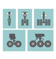 Airplane elements Landing gears vector image vector image