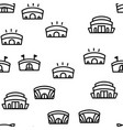 arena buildings seamless pattern vector image vector image