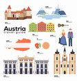 austria travel guide template set austrian vector image vector image