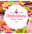banner page design confectionery vector image vector image