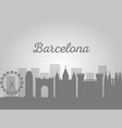 barcelona architecture skyline cityscape with vector image