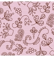 Beautiful patterns on a pink background vector image