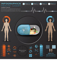 Biological Clock Health And Medical Infographic vector image vector image