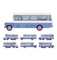 blue retro bus vector image vector image