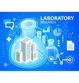 bright laboratory research of buildings on b vector image