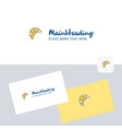 bun logotype with business card template elegant vector image vector image