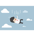 Businessman falling from the sky vector image vector image