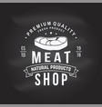 butcher meat shop badge or label with steak vector image vector image