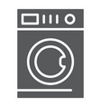 car washing glyph icon laundry and clean washing vector image vector image