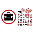 Case Flat Icon with Bonus vector image vector image