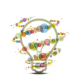 colorful light around lamp vector image