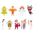 Cute kids wearing costumes vector image vector image