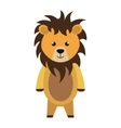 cute little lion animal character vector image
