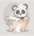 cute panda bashower vector image vector image