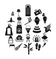 drought icons set simple style vector image vector image