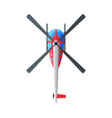 flying helicopter view from above air transport vector image vector image
