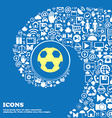 Football icon Nice set of beautiful icons twisted vector image vector image
