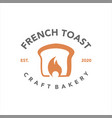 french toast logo craft bakery badge template vector image vector image